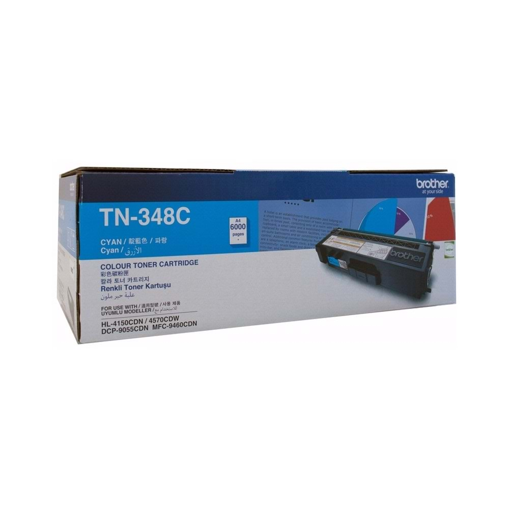 BROTHER TN-348C HL-4150/4570/9055/9460/9970 MAVİ TONER ORJİNAL 6K