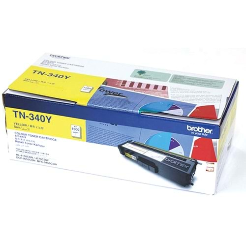 BROTHER TN-340Y HL-4150/4570/9460/9970 SARI TONER ORJ. 1.5K